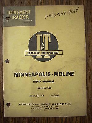 Mm Minneapolis Moline Gb Ub Zb Service Manual