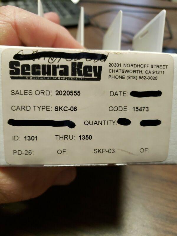 10x Securakey Security Door Access Proximity Card Radio Key Clamshell