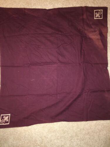 Boy Scout Maroon w/ White Full Square Tenderfoot Uniform Silkscreen Neckerchief