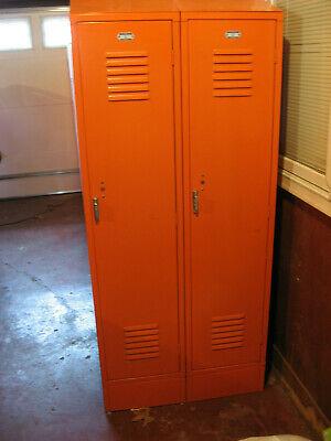 2 X 24 Lockers Penco Used Vintage Heavy Metal Steel Lockers School Gym Athletic