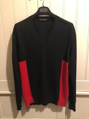 Alexander McQueen Jumper Size Medium Black & Red  Stunning Amazing Piece
