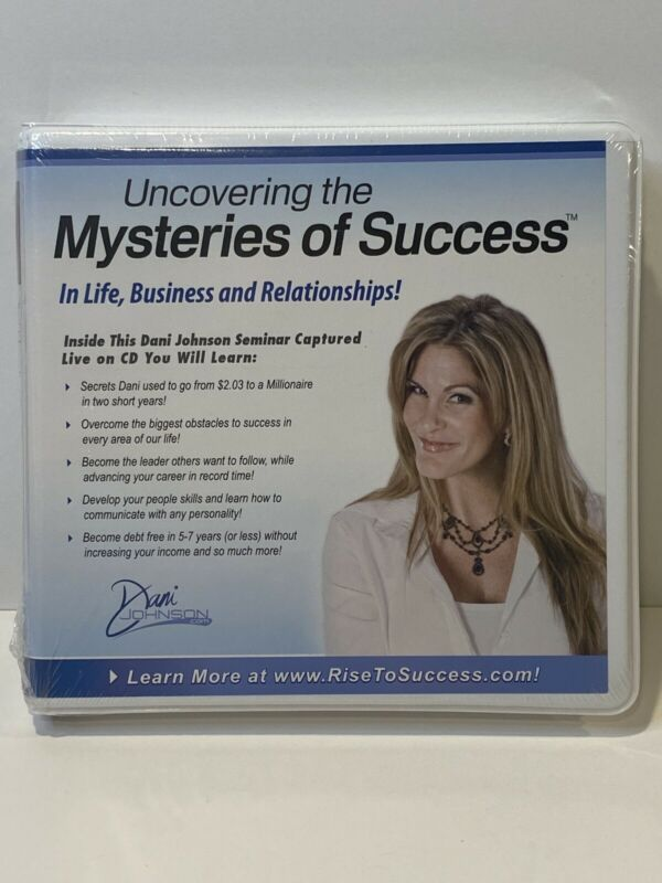 Dani Johnson CD Set ~ Uncovering The Mysteries Of Success ~ **NEW** **SEALED**