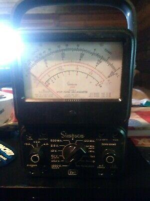 Vintage Simpson Model 260 Series 7m Volt - Ohm - Milliammeter Meter - Ham Radio