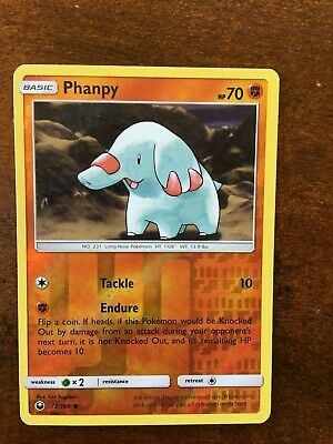 2018 Phanpy 72/168  Pokemon Card Holo Free Shipping