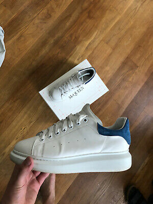 Alexander McQueen Oversize Trainers - UK 9/10 - White & Black Leather