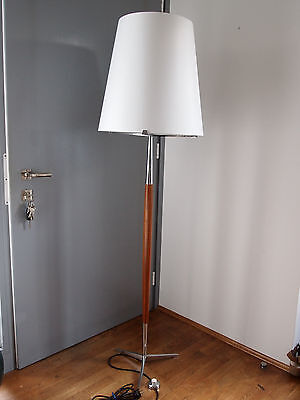 Floor Lamp Rosewood Palisander 60er 70er Stehlampe Stehleuchte  Design 70s
