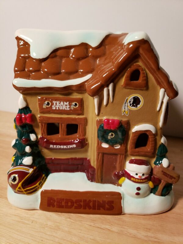 Washington Redskins NFL Holiday Village House Forever Christmas Collection