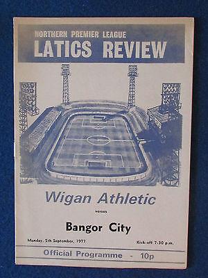Wigan Athletic v Bangor City - 5/9/77 Programme