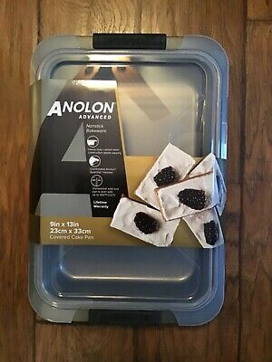 NEW Anolon Advanced Nonstick Covered Cake Pan