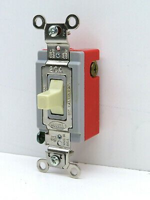 Hubbell Hbl1557i Single Pole Double Throw Toggle Switch 3-position 2-circuit 20a
