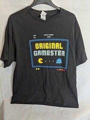 Vintage Pacman Original Gamester Men's Black Graphic T-Shirt Size XL
