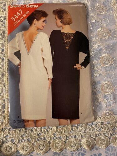 Butterick Sewing Pattern Uncut 5447 Misses Dress - $9.99