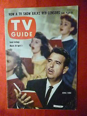 Oregon March 28 Tv Guide 1959 Ernie Ford Dodge City Aaron Spelling Dennis Weaver