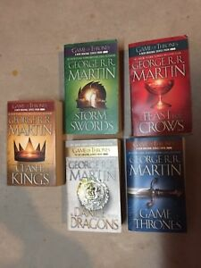 A Game of Thrones (all 5 soft cover) by George R R Martin