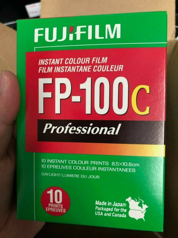 FujiFilm FP-100C ISO 3.5x4.2 in Pro. Instant Colour Film EXP 2013-10  FREE SHIP