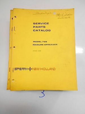 New Holland Ford Sperry 795 Spreader Parts Catalog 382