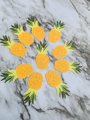 Set Of 10 Pineapple Cut Outs Small For Craft Scrapbook Journals Small Circle Cut Outs