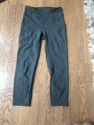 Lululemon Pace Rival Crop Leggings Size 6 Dark Olive