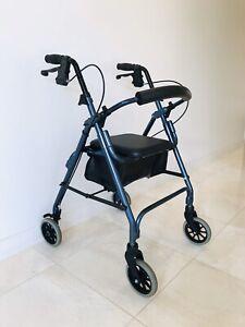 Ansa Cruiser Deluxe Seat Mobility Walker Rollator Walking Frame
