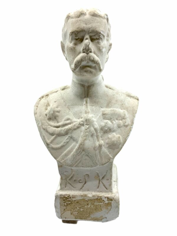 British Lord Kitchener Plaster Bust 6 Inches Tall