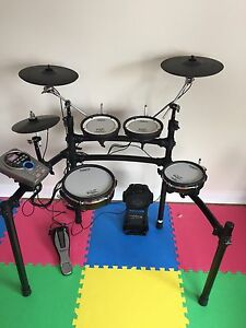 Roland TD15 with upgrades, extra PDX-100 FT & cymbal mount