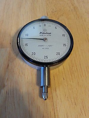 Mitutoyo 2922 125 Dial Indicator Minus On Right Side For Bore Gage .0005 Grad