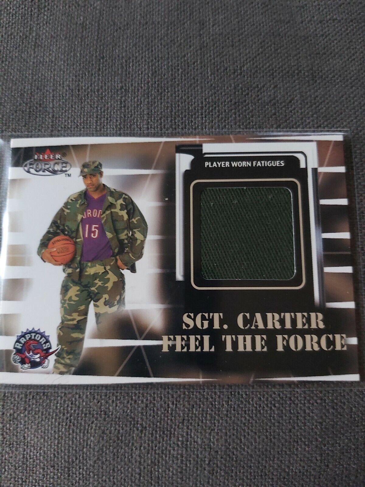 Fleer force 99/00 sergent carter jersey
