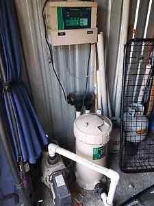 Salt Water Chlorinator, Pump & Filter. Silkstone Ipswich City Preview