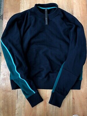 Lululemon Crewneck Sweater Size Small NWOT Navy And Green. Oversized Fit