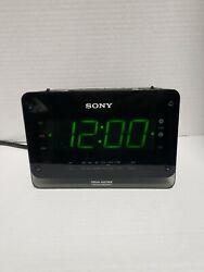 SONY DREAM MACHINE ALARM CLOCK RADIO MODEL ICF-C414 BLACK AUTO TIME SET BRIGHT