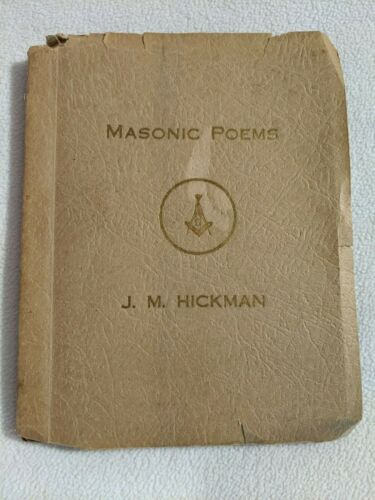 Vintage Book of Poetry of Freemasons Masonic Masons 1934