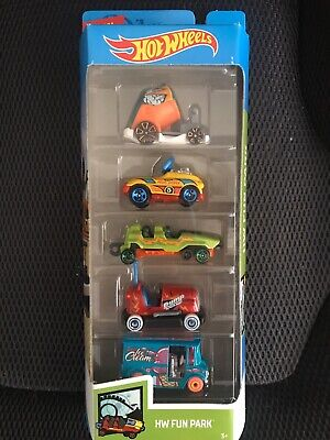 Hot Wheels 5 Pack HW Fun Park NEW Sealed Unopened Cars