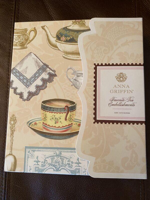 Anna Griffin Favorite Tea Embellishments NEW 120 Stickers