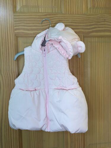 New Gymboree Ice Dancer Puffer Vest Jacket 3D ears Powder Pink Toddler Girls 2T