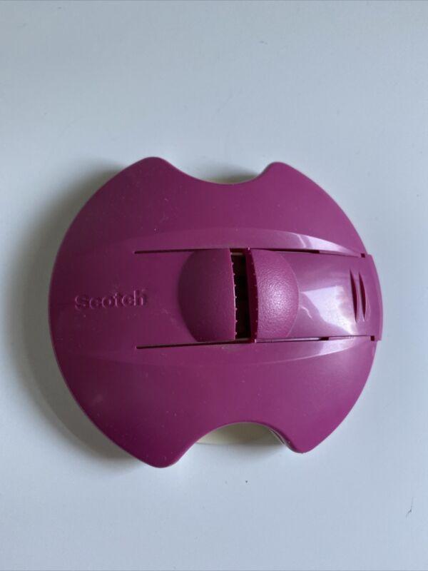 Scotch Pop Up Tape Strip Dispenser ONLY Pink Suction Desk Holder Deskgrip Purple