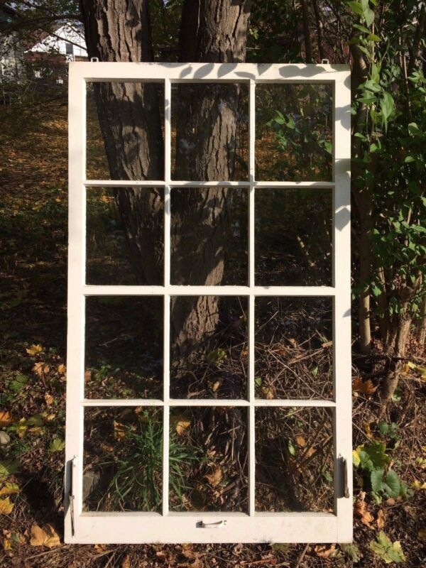 Large Antique 12 Lite Pane Cottage Window Sash Window Wall 1902-16