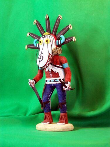 Hopi Kachina Doll - The White Ogre Kachina by Conrad Torivio - Terrifying!