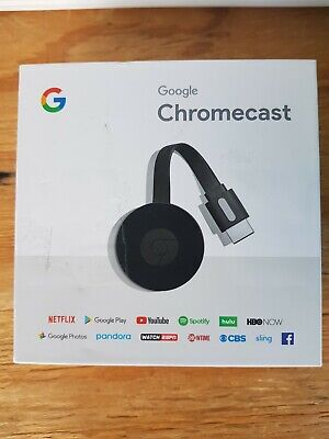 Google Chromecast 2nd Generation Media Streamer Black - Preowned