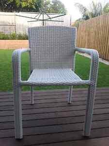 White wicker chair Kingsford Eastern Suburbs Preview