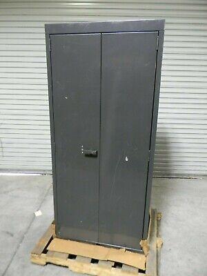 Hallowell Heavy Duty Storage Cabinet 3-shelf 12 Ga. Welded Steel 78 X 36 X 24