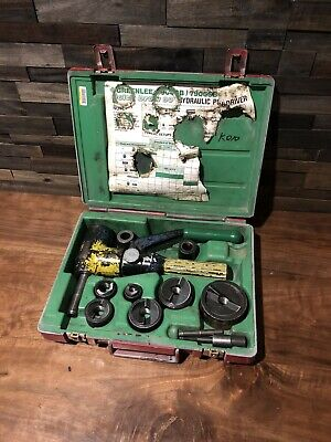 Greenlee 7906sb Quick Draw 90 Hydraulic Punch Driver Set Kit 12 To 2
