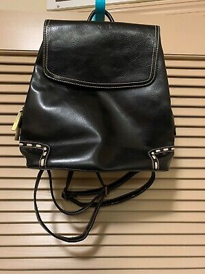 David Jones Collection Faux Leather Backpack Purse New