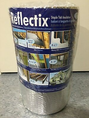Reflectix St16025 Staple Tab Insulation 16 X 25 Reflective Aluminum Foil Bubble
