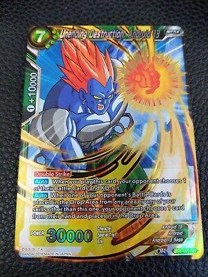 DRAGONBALL SUPER CARD GAME UNENDING DESTRUCTION, ANDROID 13 MINT BT3-069 SR
