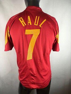 eaaabc44e4e Adidas Spanish National Team Espana #7 Raul Futbol Soccer Jersey Shirt Sz-L