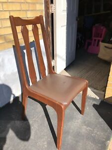 Retro wood and leather chair