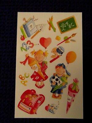 Sticker Schultüte Einschulung Mädchen Junge 1 Bogen Aufkleber von bsb