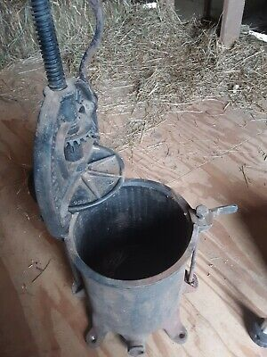 Enterprise 8 Qt Tank Sausage Stuffer And Lard Press. Used Good Condition