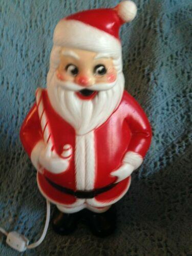 "VINTAGE CHRISTMAS 1965 LIDCO 13 1/2"" SANTA BLOW MOLD W/NEW LIGHT CORD"