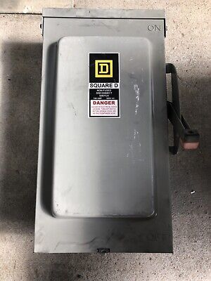 Square D Safety Switch Disconnect Hu363rb 100 Amp 600 Volt Non Fused Nema 3r